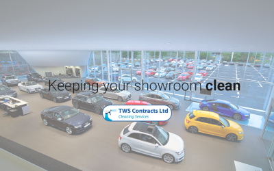 Keeping a car showroom looking perfect!
