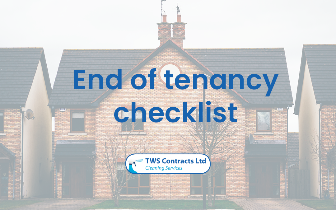 Our end of tenancy checklist!